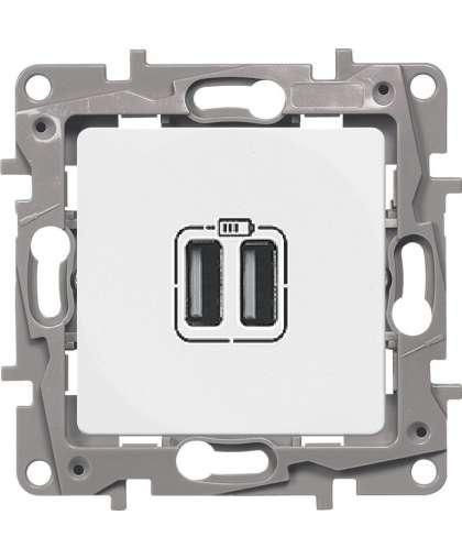 Зарядное устройство Legrand Etika с двумя USB-разъемами 672294 белый