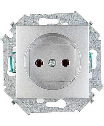 Розетка 2P без заземления 1591431-033 алюминий, Simon