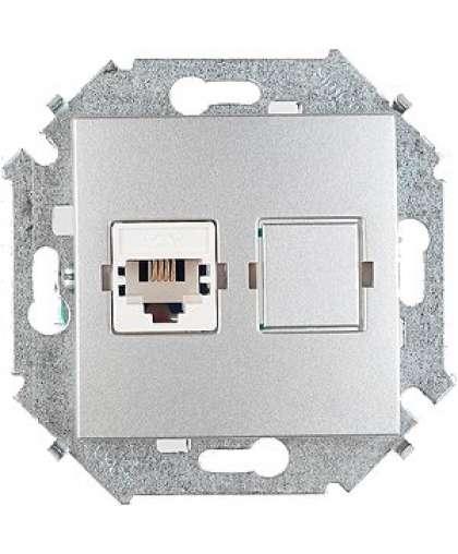 Розетка RJ11 1591480-033 алюминий, Simon
