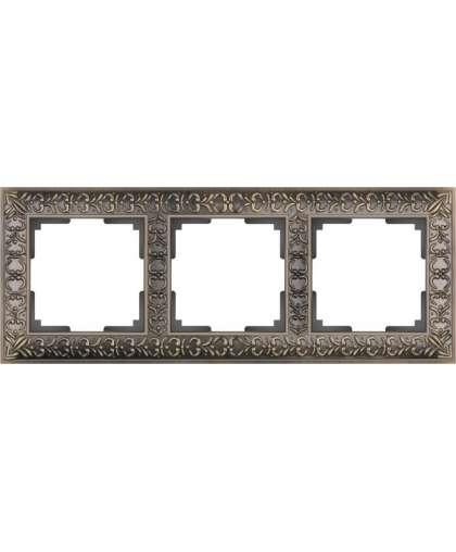 Рамка WL07-Frame-03 3 поста бронза, Werkel