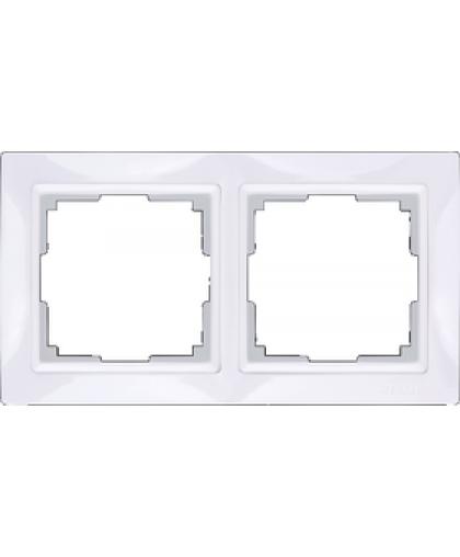 Рамка WL03-Frame-02 2 поста белый, Werkel