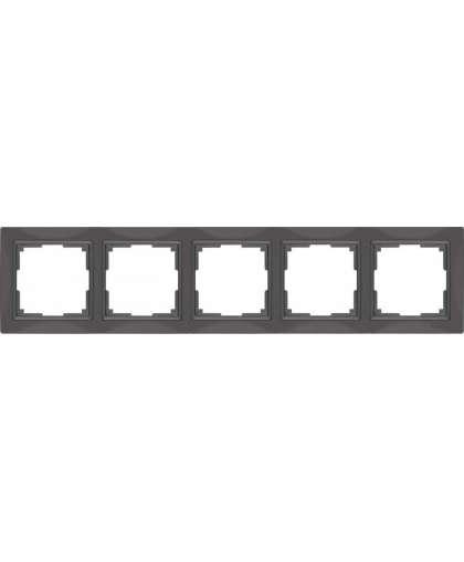 Рамка WL03-Frame-05 basic 5 постов серо-коричневый, Werkel