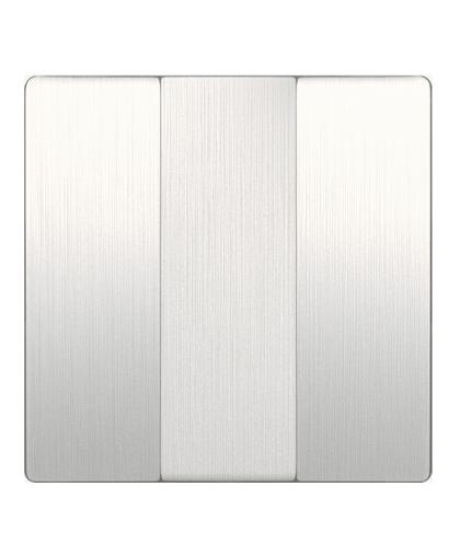 Набор клавиш для выключателя трехклавишного WL13-SW-3G-CP перламутровый рифленый, Werkel