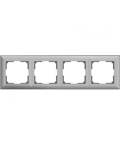 Рамка Werkel WL14-Frame-04 a038848 4 поста серебряный