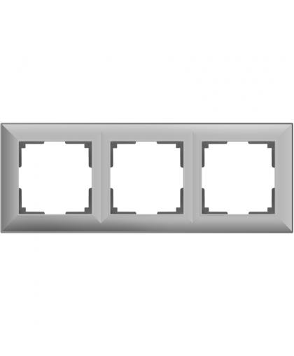 Рамка Werkel WL14-Frame-03 3 поста серебряный