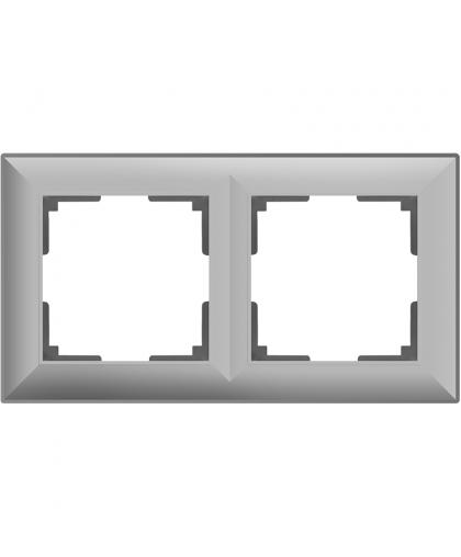 Рамка WERKEL 2 поста WL14-Frame-02 серебряный