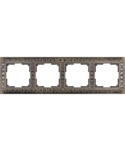 Рамка WERKEL WL07-Frame-04 4 поста бронза