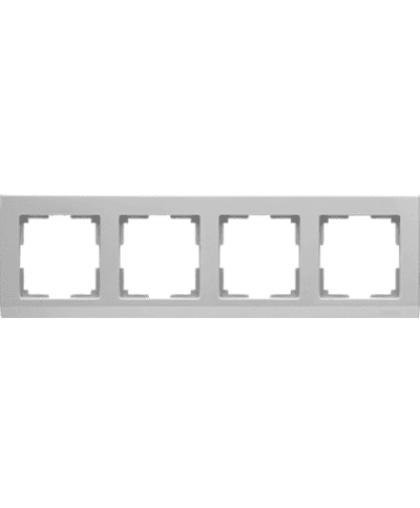 Рамка WERKEL WL04-Frame-04 на 4 поста серебряный