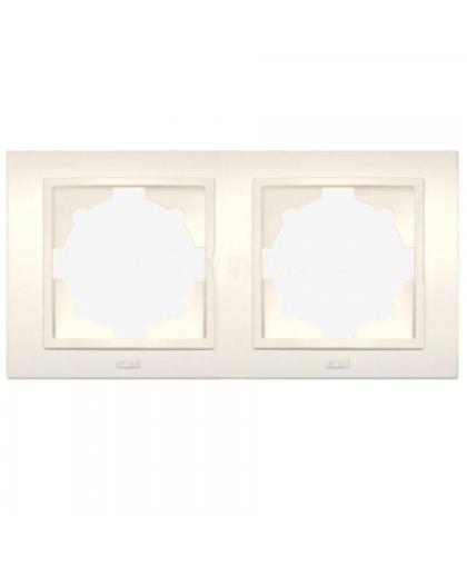 Рамка EL-BI Zena 500-010300-226 2 поста кремовый