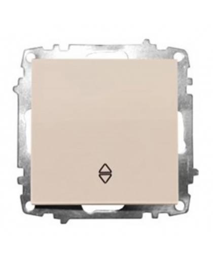 Выключатель EL-BI Zena-Vega 1 клавиша 609-010300-209 проходной кремовый механизм