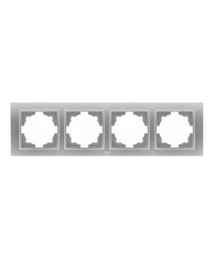 Рамка EL-BI Zena 4 поста 500-011000-228 серебро