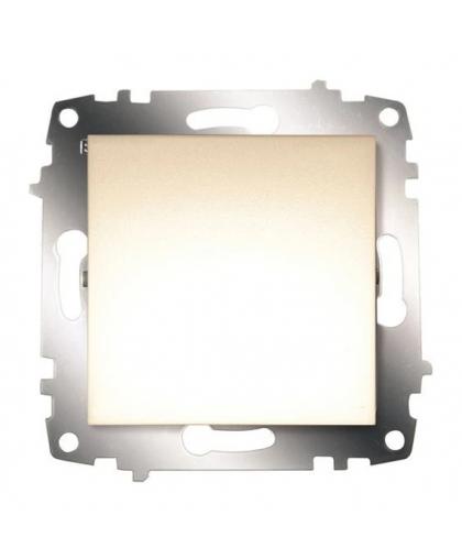 Выключатель EL-BI Zena-Vega 1 клавиша 609-010300-200 кремовый механизм