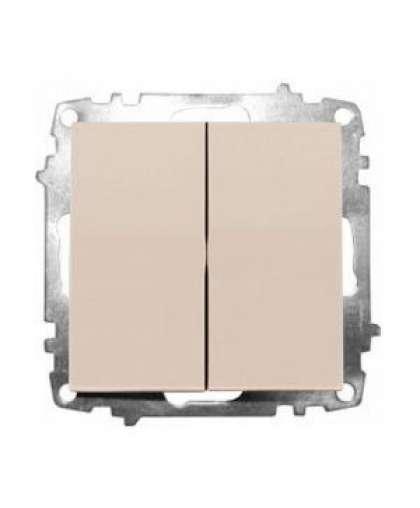 Выключатель EL-BI Zena-Vega 2 клавиши 609-010300-202 кремовый механизм