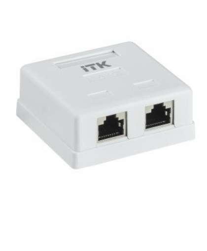CS2-1C5EF-22 ITK Настенная информационная розетка RJ45 категория 5е FTP 2-порта