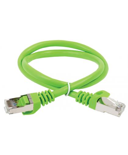 Коммутационный шнур  (патч-корд)  кат.5E FTP, 0.5м,зеленый  PC02-C5EF-05M ITK