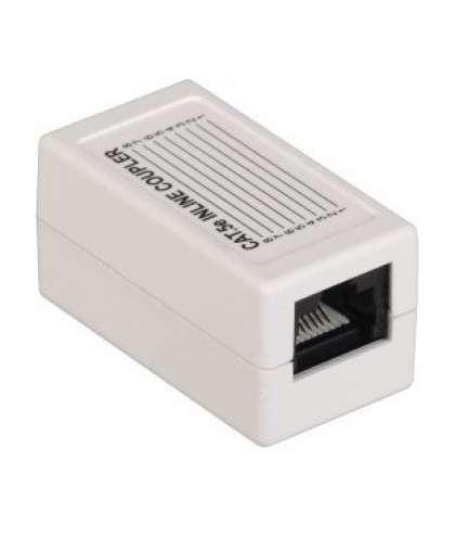 Проходной адаптер кат.5E UTP, тип RJ45-RJ45 (8P8C), белый CS70-1C5EU ITK