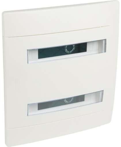 Щит встраиваемый Practibox 2х12М IP40 N+PE 601118 дверь с прозрачным окошком