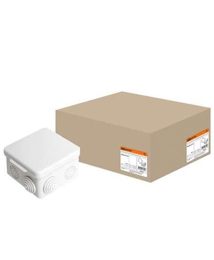 Коробка распред.с крышкой 80х80х50мм IP54, 7вх. TDM SQ1401-0112