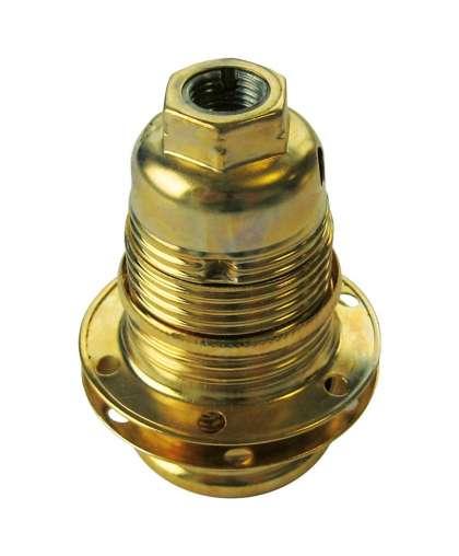 Патрон люстровый с двумя кольцами Е14 золото 1116.