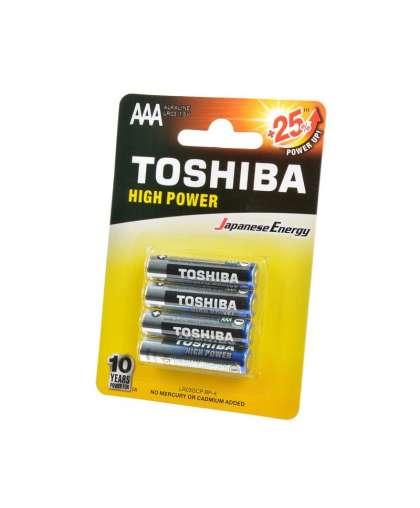 Батарейка Toshiba High Power LR03GCP BP-4 алкалиновая