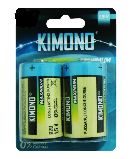 Батарейка Kimono R14/BL2 С Baby солевая