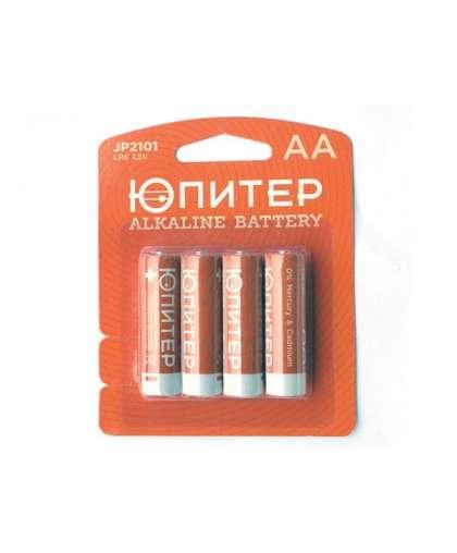 Батарейка AA LR6 1,5V alkaline 4 шт JP2101, ЮПИТЕР