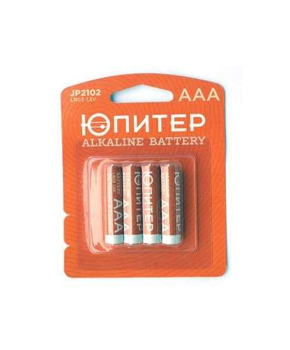 Батарейка AAA LR03 1,5V alkaline 4 шт JP2102 ЮПИТЕР