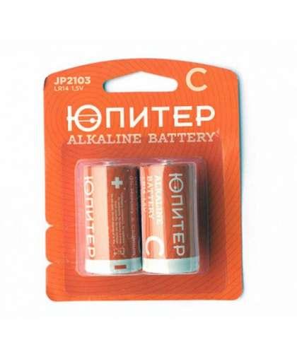 Батарейка C LR14 1,5V alkaline 2 шт JP2103, ЮПИТЕР