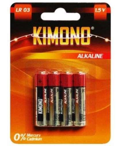 Батарейка Kimono LR03/BL4 ААА алкалиновая