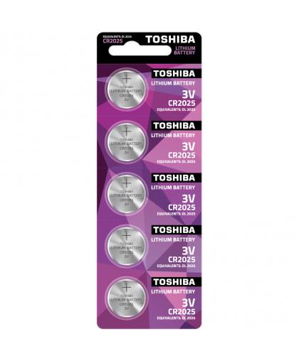 Батарейка Toshiba CR2025 PW BP-5 Lithium coins литиевая