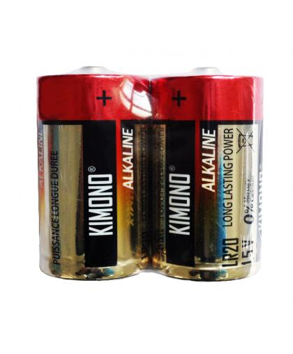 Батарейка Kimono LR20/BL2 D Mono алкалиновая