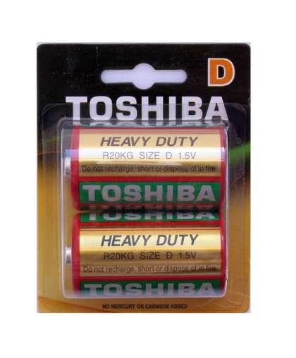 Батарейка Toshiba Heavy Duty R20KG BP-2TGTE SS солевая