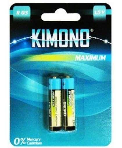 Батарейка Kimono R03/BL2 ААА Micro солевая