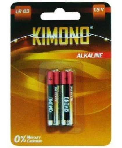 Батарейка Kimono LR03/BL2 ААА Micro алкалиновая