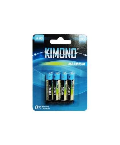 Батарейка  R03/BL4 ААА (Micro) 1,5В Kimono