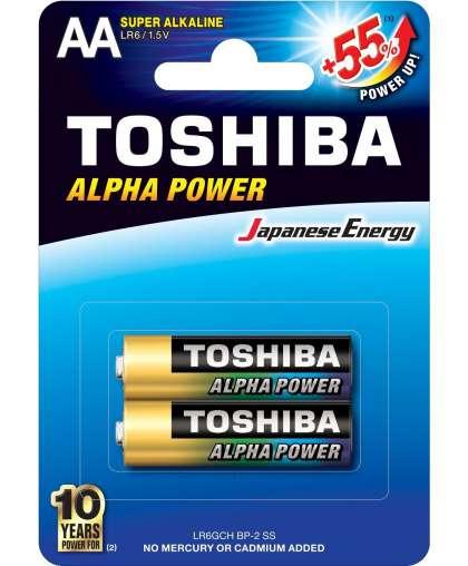 Батарейка Toshiba LR6GCH BP-2 Super алкалиновая