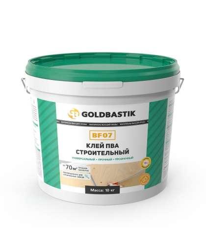 Клей Goldbastik BF 07 ПВА строительный прозрачный 10 кг