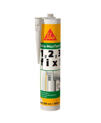 Клей SikaMaxTack DE/FR/IT моментального схватывания 280 мл белый