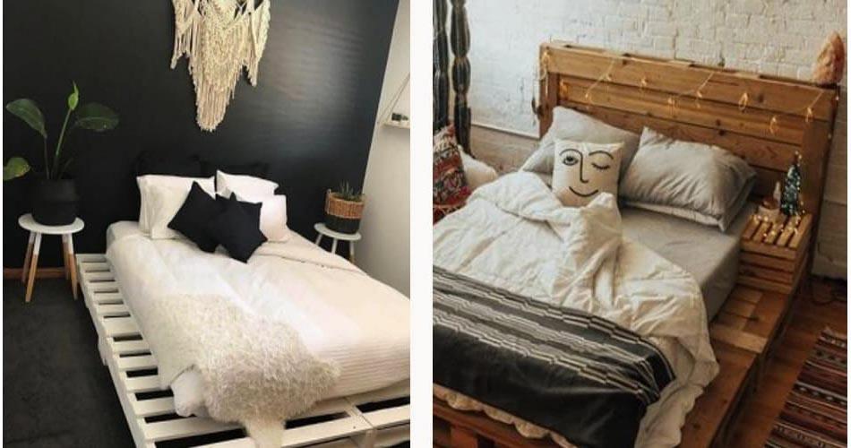 Каракас для кровати из поддонов