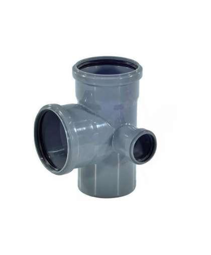 Крестовина двухплоскостная для внутренней канализации 87 градусов 110/110/50/50 мм, Фабипласт