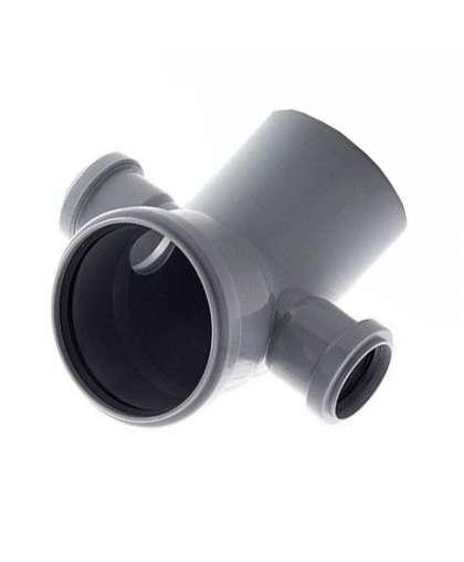 Колено для внутренней канализации 45 градусов 110/50/50 мм левый/правый, РосТурПласт