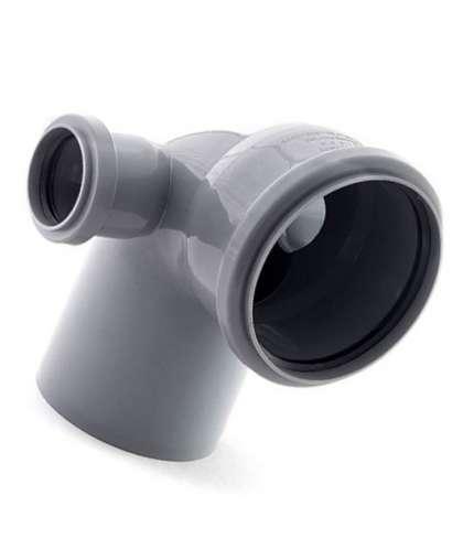 Колено для внутренней канализации 87 градусов 110/50/50 мм левый правый, РосТурПласт