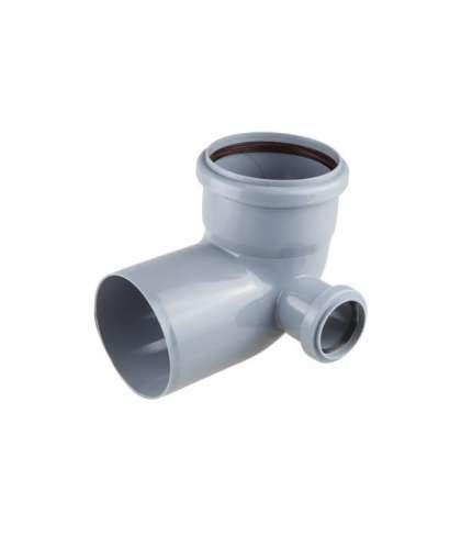 Колено для внутренней канализации 87 градусов 110/50 мм правый, РосТурПласт