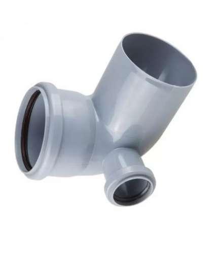Колено для внутренней канализации 87 градусов 110/50 мм левый, РосТурПласт