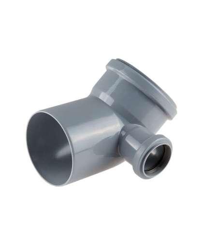 Колено для внутренней канализации 45 градусов 110/50 мм правый, РосТурПласт