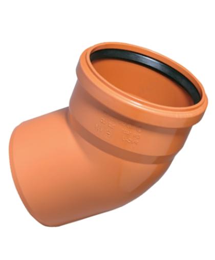Отвод ПВХ для наружной канализации 67 градусов 160 мм, Ostendorf