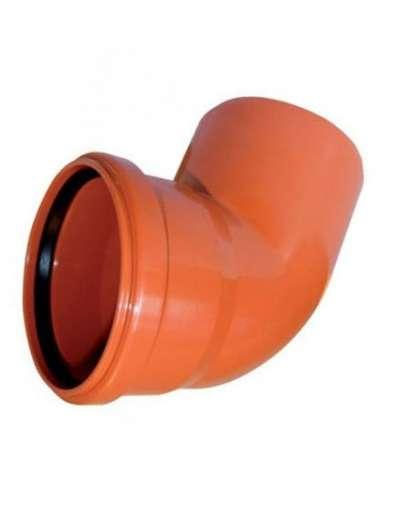Отвод ПВХ для наружной канализации 45 градусов 160 мм, Ostendorf