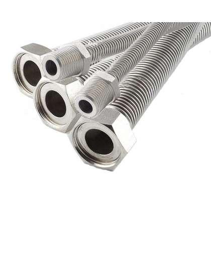 Трубка гофрированная гибкая стальная для газа ТГС 03-1/2-2,0-УХЛ1 (гайка/штуцер), Джем-Флекс