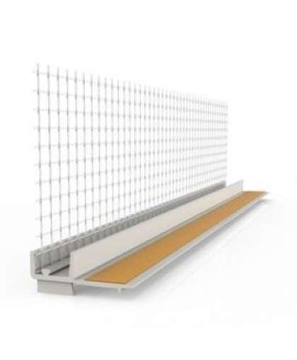 Профиль оконный примыкающий 6мм с сеткой 2,4м