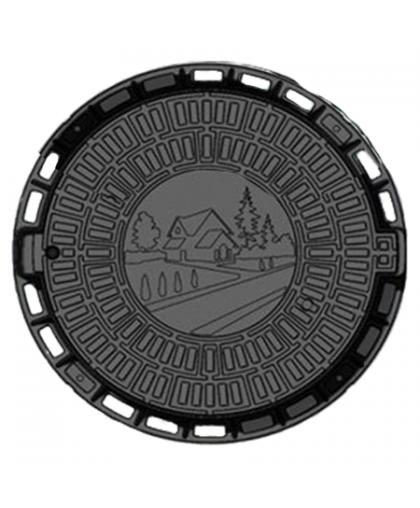 Люк садовый пластиковый черный «Д» Л-60.80.10-ПП 800*100 мм, Standartpark